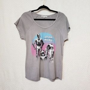 Junk Food* Star Wars Tee* Vintage Wash Gray* Sz M*